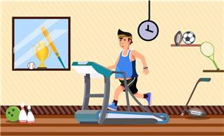 卡通动漫健身减肥运动人物形象设计