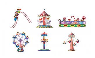 主题公园的游乐设施设备图案设计
