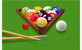 桌球台球比赛海报背景设计素材