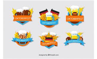 6款彩色慕尼黑啤酒节标签