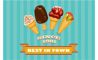 冰淇淋创意海报造型设计