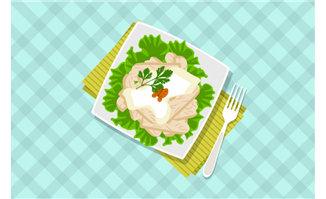 餐桌上美食海报背景设计
