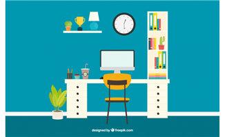 <b>整洁干净创意的办公室场景设计素材</b>