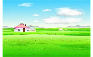 草原上牧民安居的地方二
