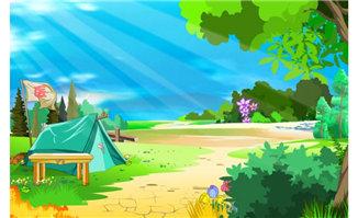 扎营在野外的医疗帐篷动