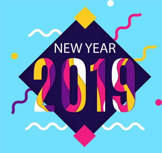 彩色条纹创意2019年数字字体设计素材_漫品购_mg动画图片
