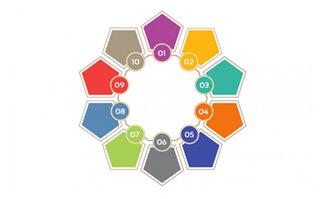 彩色圆圈标签图标背景设