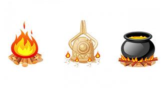 三款火苗二维动画素材道