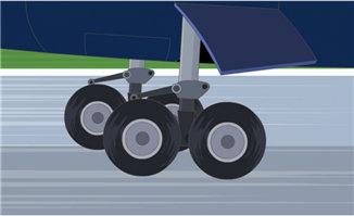 飞机降落时滑行的动态效果二维动画素材