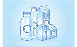 手绘卡通动漫牛奶包装设