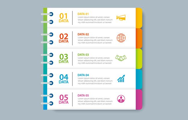 彩色创意ppt标签目录造型背景设计素材