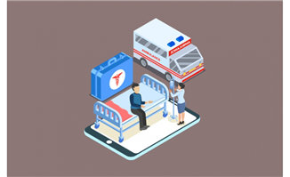 2.5D未来科技医院构思图背
