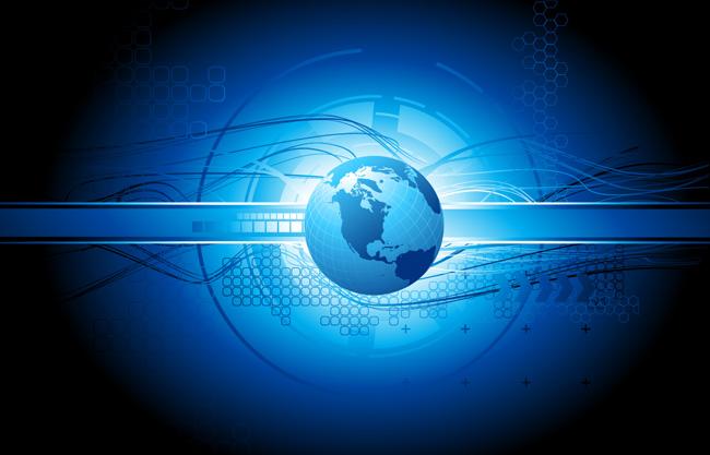 科技地球渐变背景主题矢量图