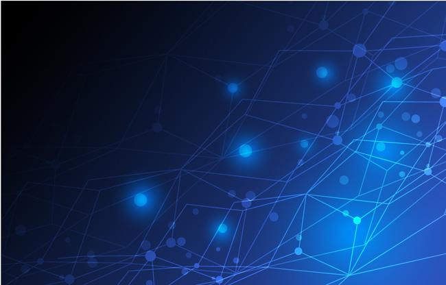 蓝色科技背景矢量素材