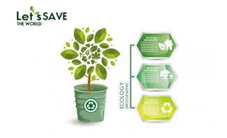 绿色 环保 主题  展示 好