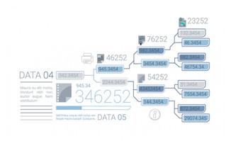 详细 分支图表 蓝色图表数