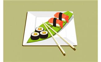 日本美食寿司海报背景设