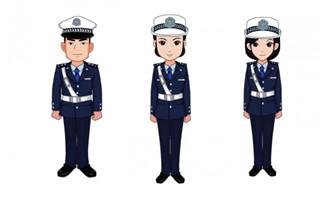 动漫二维人设警察形象设计素材