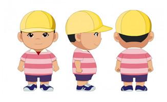 二维动画动漫小朋友人设