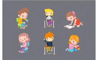 扁平化儿童小孩设计素材