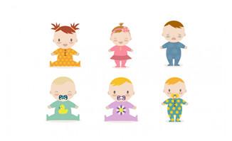 婴幼儿卡通形象设计素材