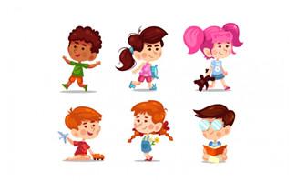 手绘可爱大头儿童设计素
