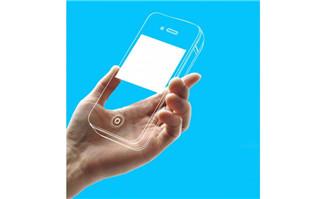 手拿透明手机创意图片设计