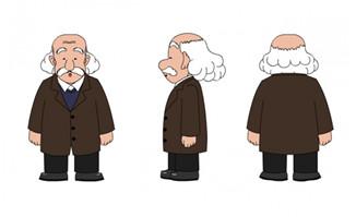 爱因斯坦科学家人设三视图说话动作素材