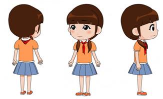 动漫卡通小女孩形象人设