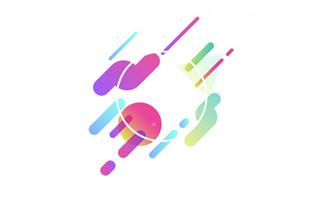 彩色圆圈元素创意多边形设计素材