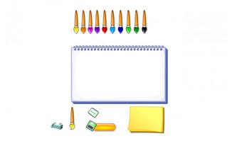 绘画类游戏手绘画笔造型