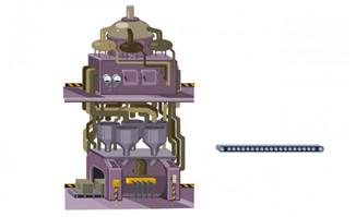 工厂生产大型机械机器造