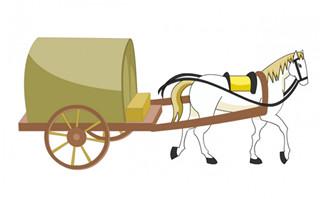 白马古代交通工具马车造型设计素材