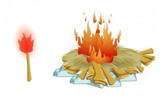火把火堆二维动画效果flash源文件素材