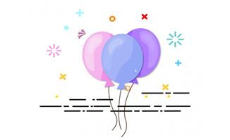 情人节气球mbe卡通浪漫背景设计素材