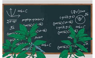 卡通黑板植物背景素材下