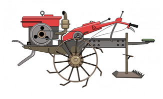 简易的农用机器设备造型设计素材