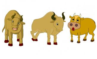 牛站着吃东西摇头等动作