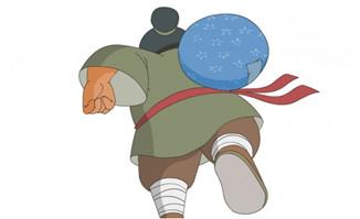 背影跑步的人物动作设计