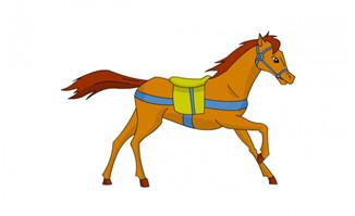 一匹马奔跑的动作动画效