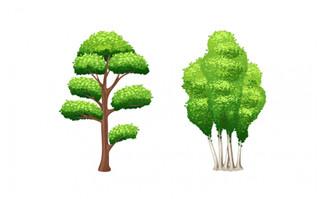 卡通绿植树木设计素材