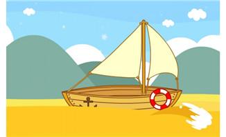 小木船场景设计素材下载