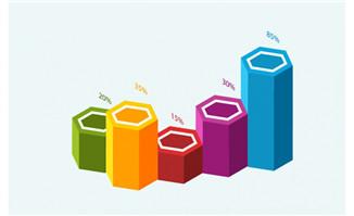 3D数据立体图表设计元素素