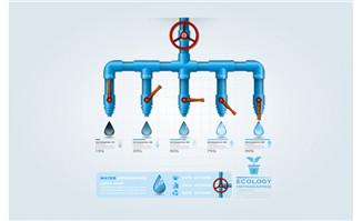 创新生态水信息图形矢量