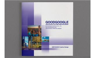 紫色调风格画册模板psd源文件素材