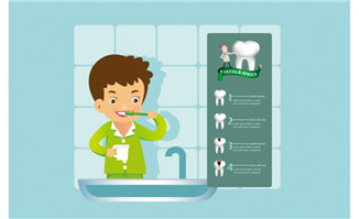 创造性的牙齿保健信息图
