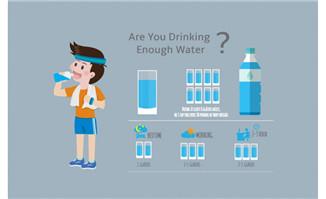 儿童喝水统计数据图