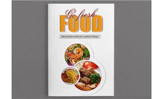 餐饮行业画册美食psd模板免费下载