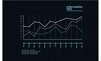 曲线信息比例图表设计