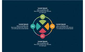 圆形图表矢量设计元素素